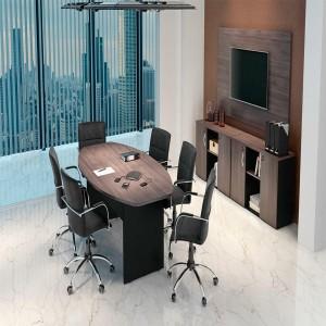 Mesa de reunião para seis cadeiras da linha M25