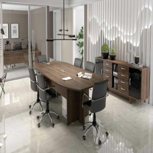 Mesa de Reunião para seis Cadeiras da Linha UP Glass