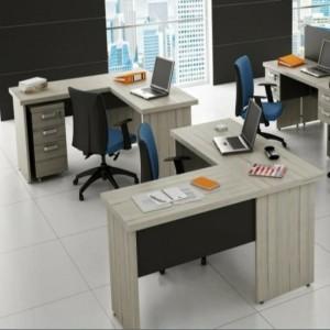 Mesa p/ Escritório com mesa auxiliar Prius