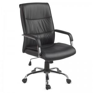 Cadeira Presidente Em Couro P.u. Com Relax